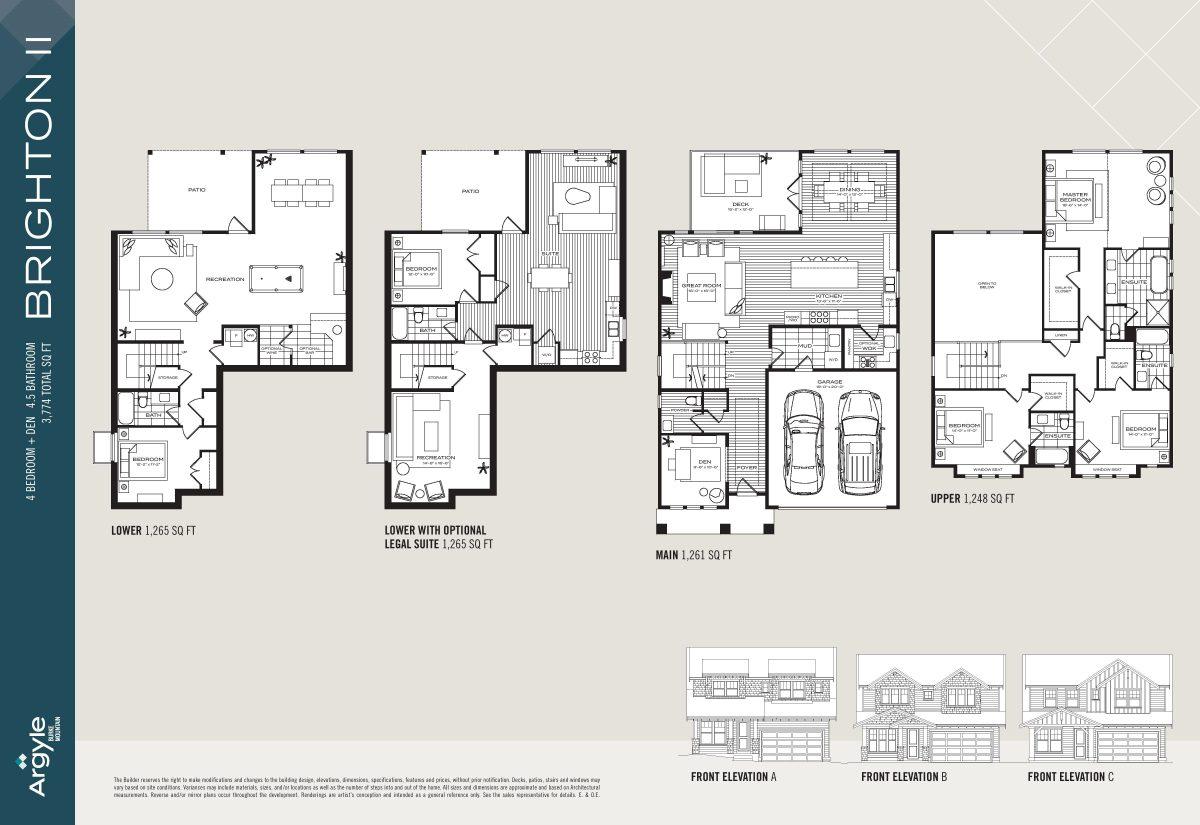 Quality Coquitlam Homes Floor Plans Argyle